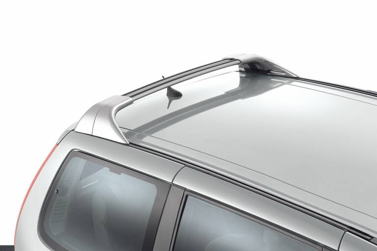 Satz mit 2 Dachquerträgern Aluminium