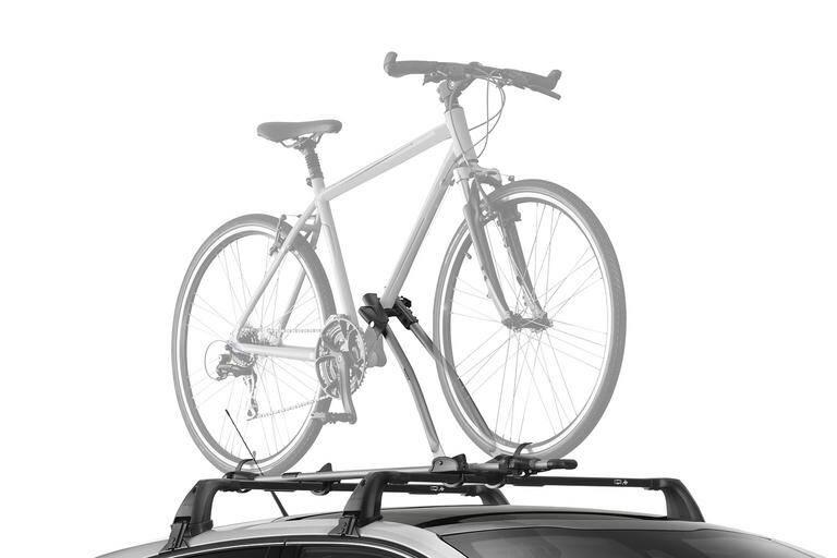 Fahrradträger auf Dachgrundträger 1 Fahrrad